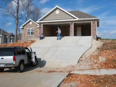 Wow What A Great Sledding Hill Construction Fails New Home Construction Construction Design