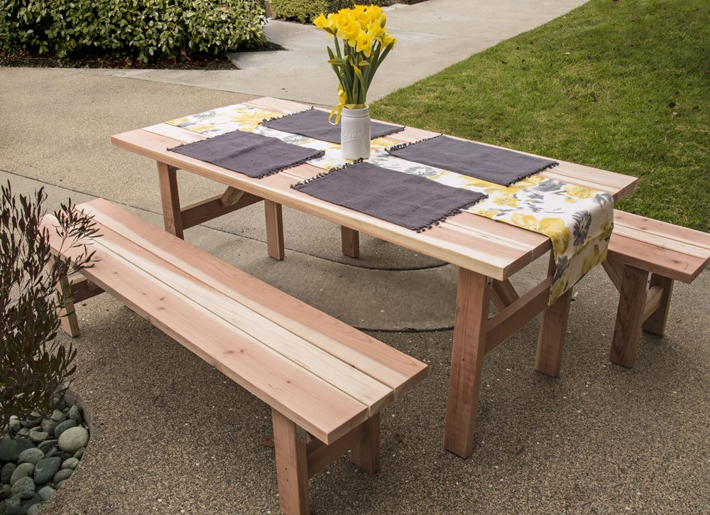 Great Learn How A First Time DIYer Made A DIY Picnic Table And Benches Perfect  For A Backyard BBQ.