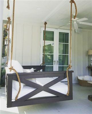 The Cooper River Swing Bed Porch Swing Diy Porch Porch