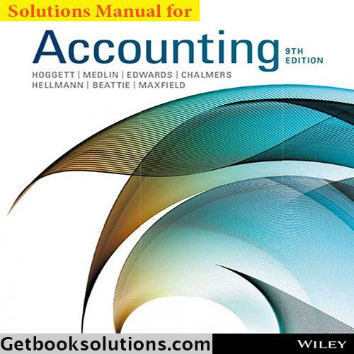 Download solution manual for accounting 9th edition by hoggett download solution manual for accounting 9th edition by hoggett fandeluxe Images