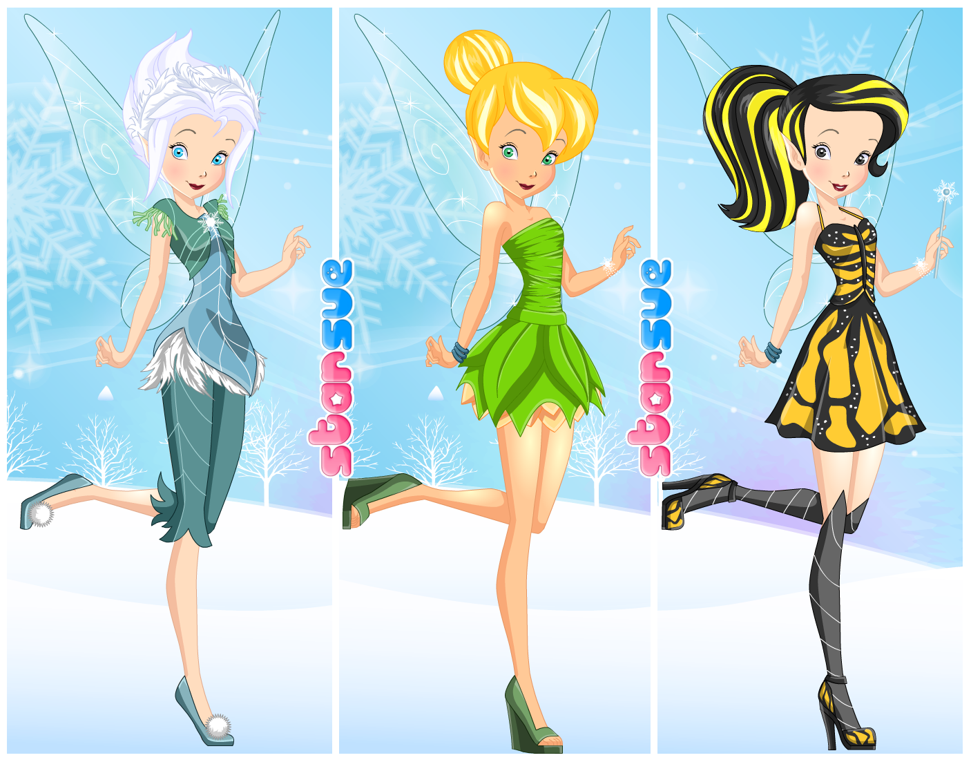 Disney Fairies Frost Fairy Periwinkle Dress Up Game : http://www.starsue