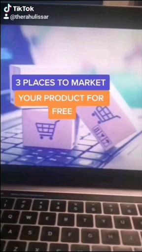3 Places To Market Your Product For Free Video Money Life Hacks Money Making Hacks Digital Marketing Trends