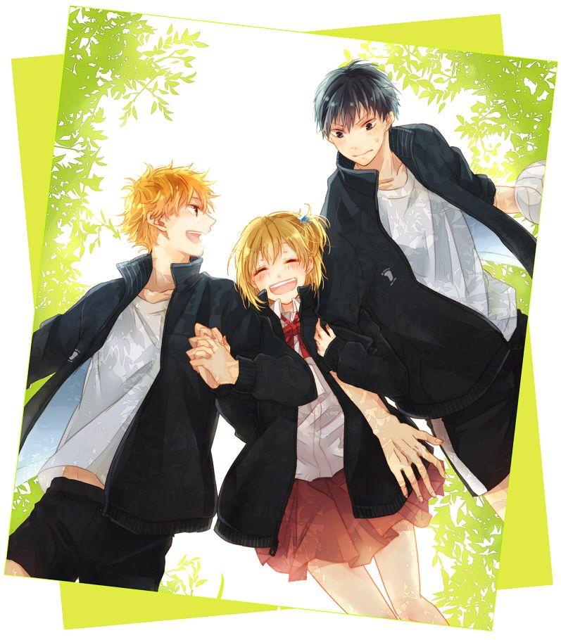 Haikyuu!! (ハイキュー!!) - Shouyou Hinata, Hitoka Yachi, & Tobio Kageyama