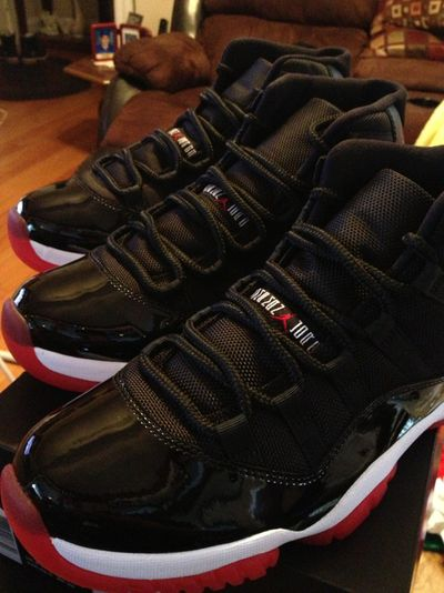 4a90f8aea84 Black Patent Leather Jordans...