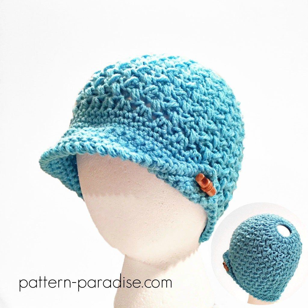 c9571f926a1 Crochet Pattern  Bean Town Beanie   Messy Bun Hat