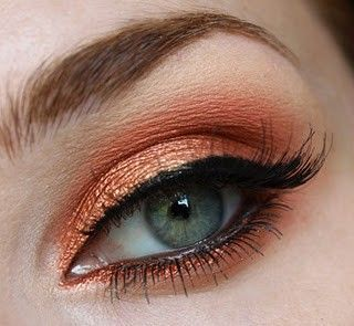 coral  this would be amazing on blue eyes  makeup girl