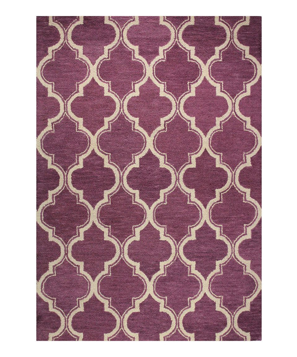 Another great find on #zulily! Lilac Quatrefoil Wool Rug by Bashian #zulilyfinds