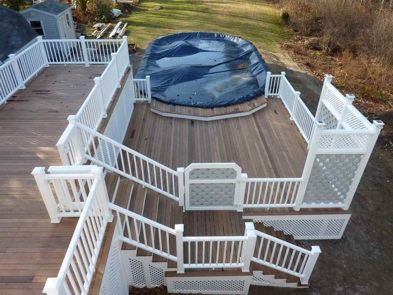 Multi Level Above Ground Pool Deck Pictures Above Ground Pool Decks Above Ground Pool Landscaping Backyard Pool