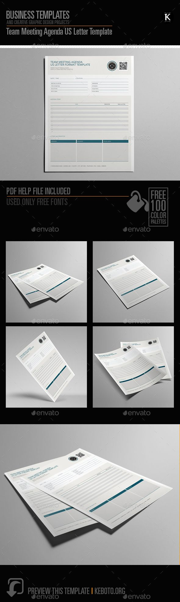Agenda Sample Format Cool Team Meeting Agenda Us Letter Template  Miscellaneous Print .