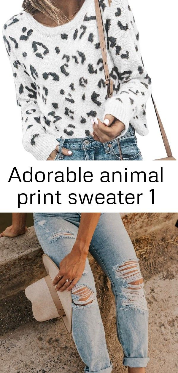 Adorable animal print sweater 1 #falloutfitsschool2019