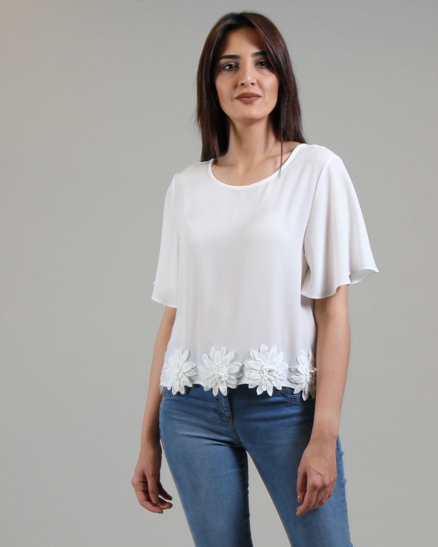 0f22c3e185cc3 ON Etek Ucu İşlemeli Bluz | BLUZ | EKOL | giyim | Bluz, Etek, Giyim