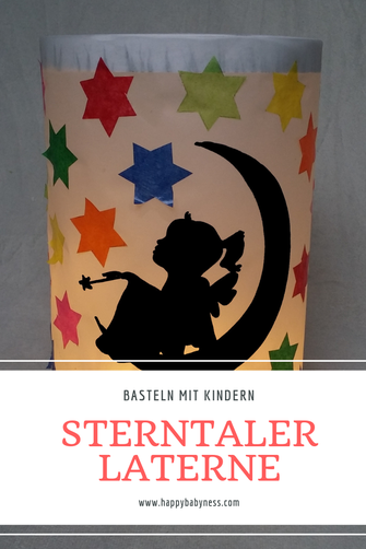 #STERNTALER #MÄRCHEN #MARTINSLATERNE | Kostenlose #DIY #Anleitung auf #Deutsch | Einfach #Baseln mit #Kindern im #Herbst | #November #StMartin #Lichterfest #Laterne | happybabyness.com #laternebasteln
