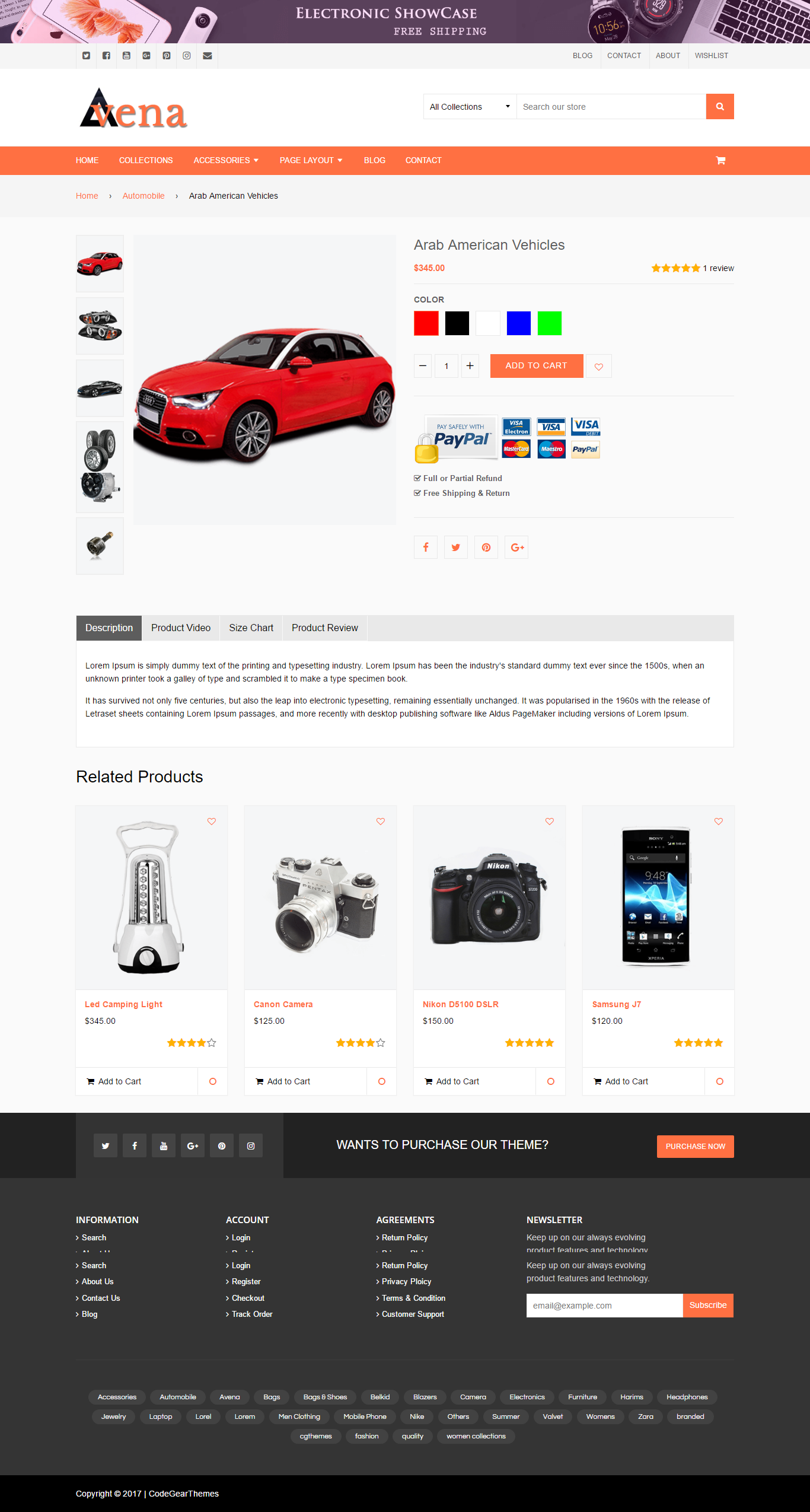 Avena Shopify Theme Product Page Ecommerce Template Suitable