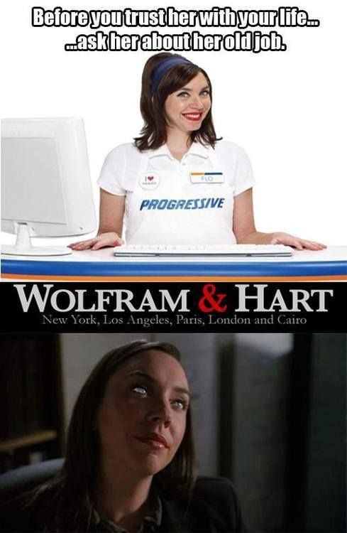 Flo At Her Job Before Progessive Wolfram And Hart Angel Buffy