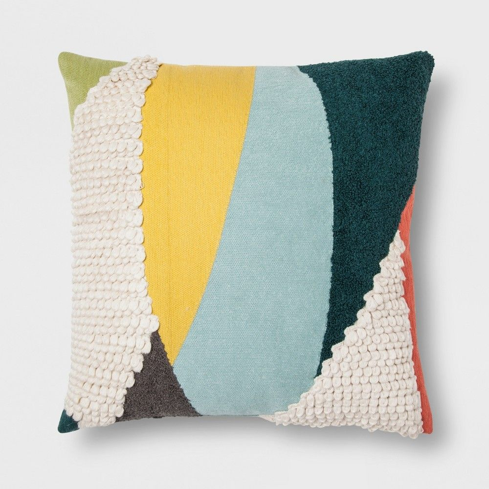 Update Your Decor With This Stylish Colorblock Throw Pillow From