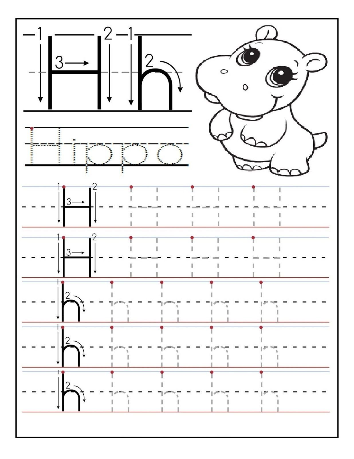 preschool printable activities hippo learning printable alphabet and numbers learning. Black Bedroom Furniture Sets. Home Design Ideas