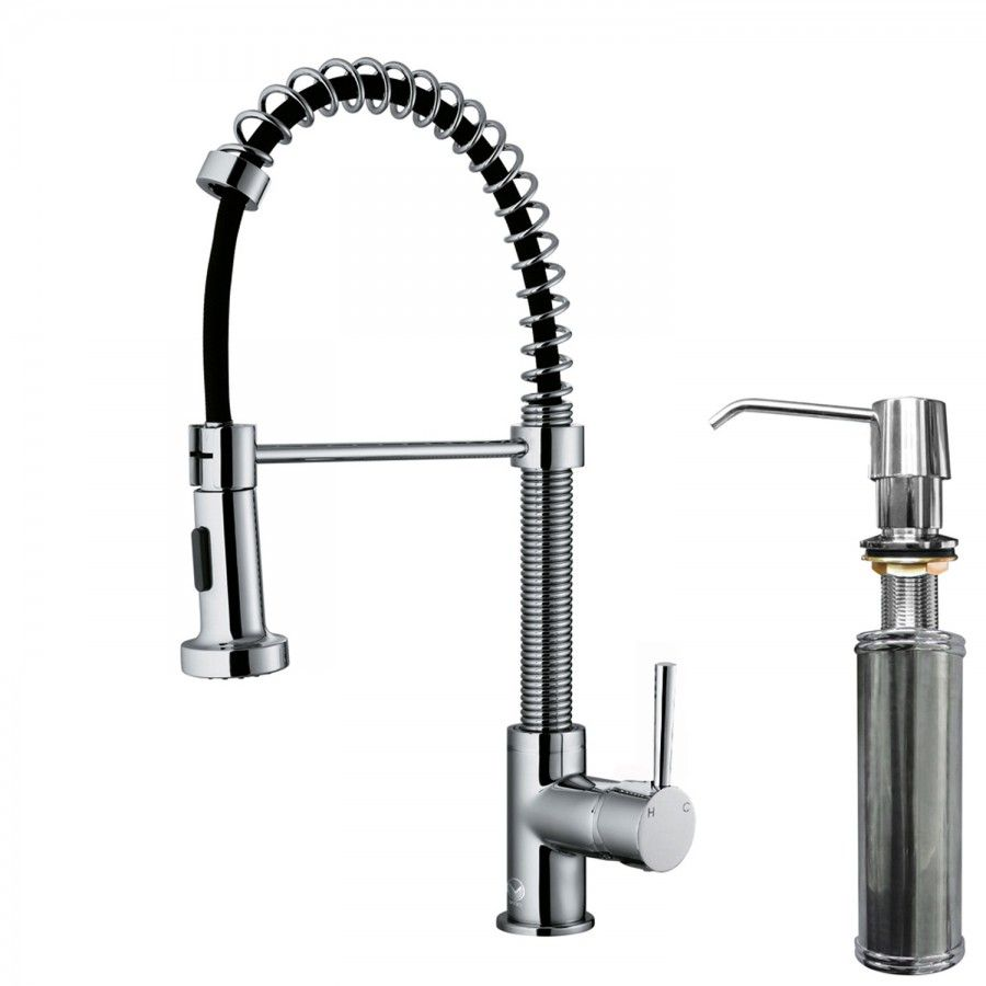 Edison Pull Down Spray Kitchen Faucet With Soap Dispenser