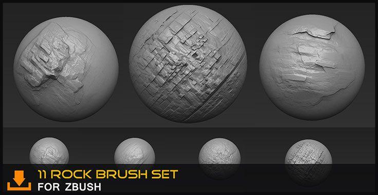 Rock Brush for zbrush By Alexandr Mikutskiy   FREE Zbrush