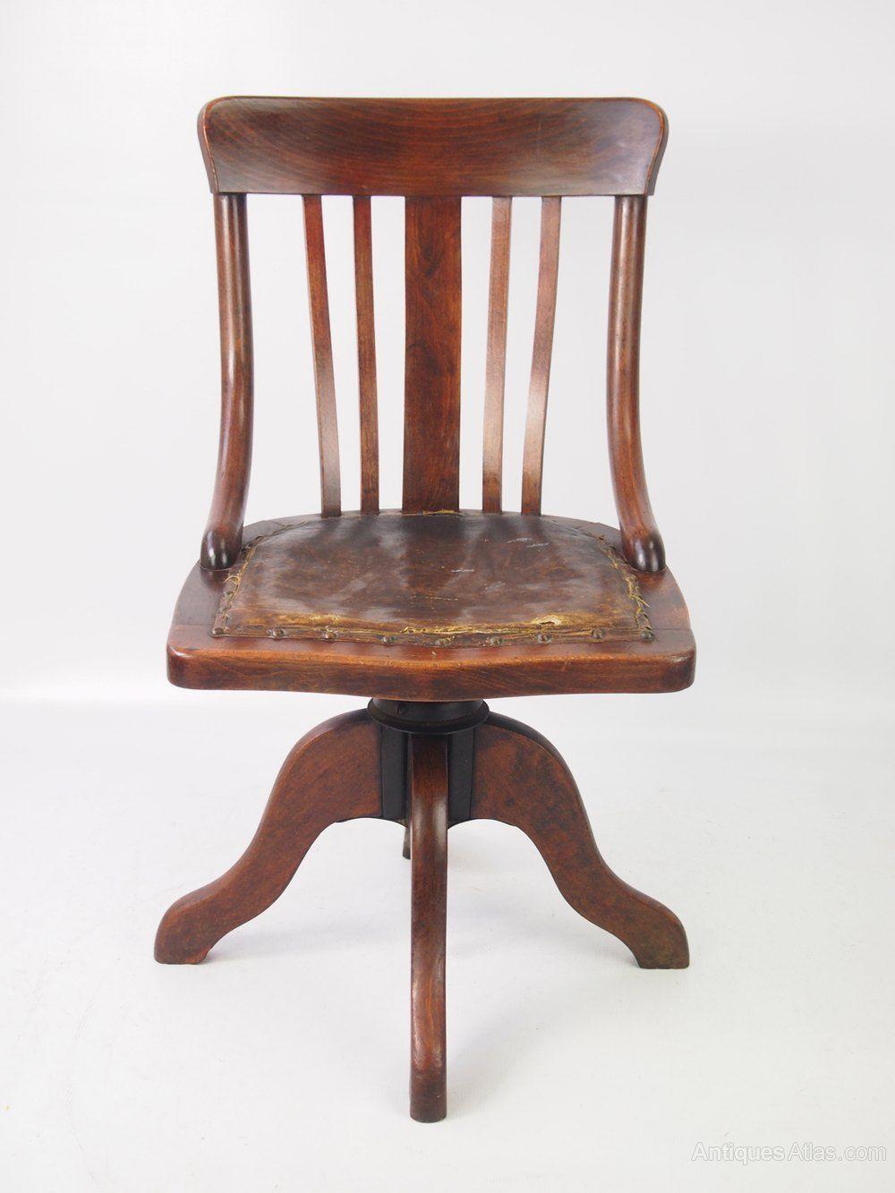 Small Antique Edwardian Swivel Desk Chair Antiques Atlas Antique
