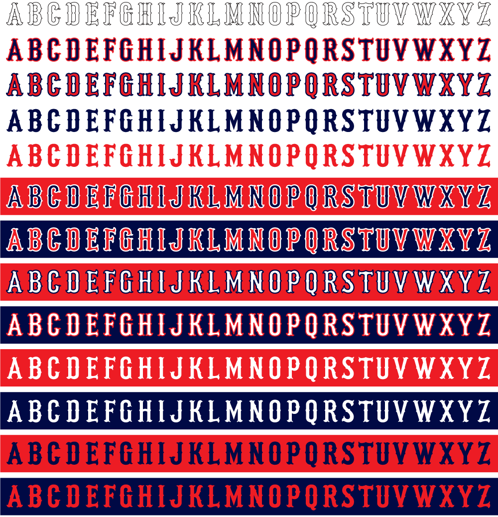 Red Sox Lettering - Letter BestKitchenView CO