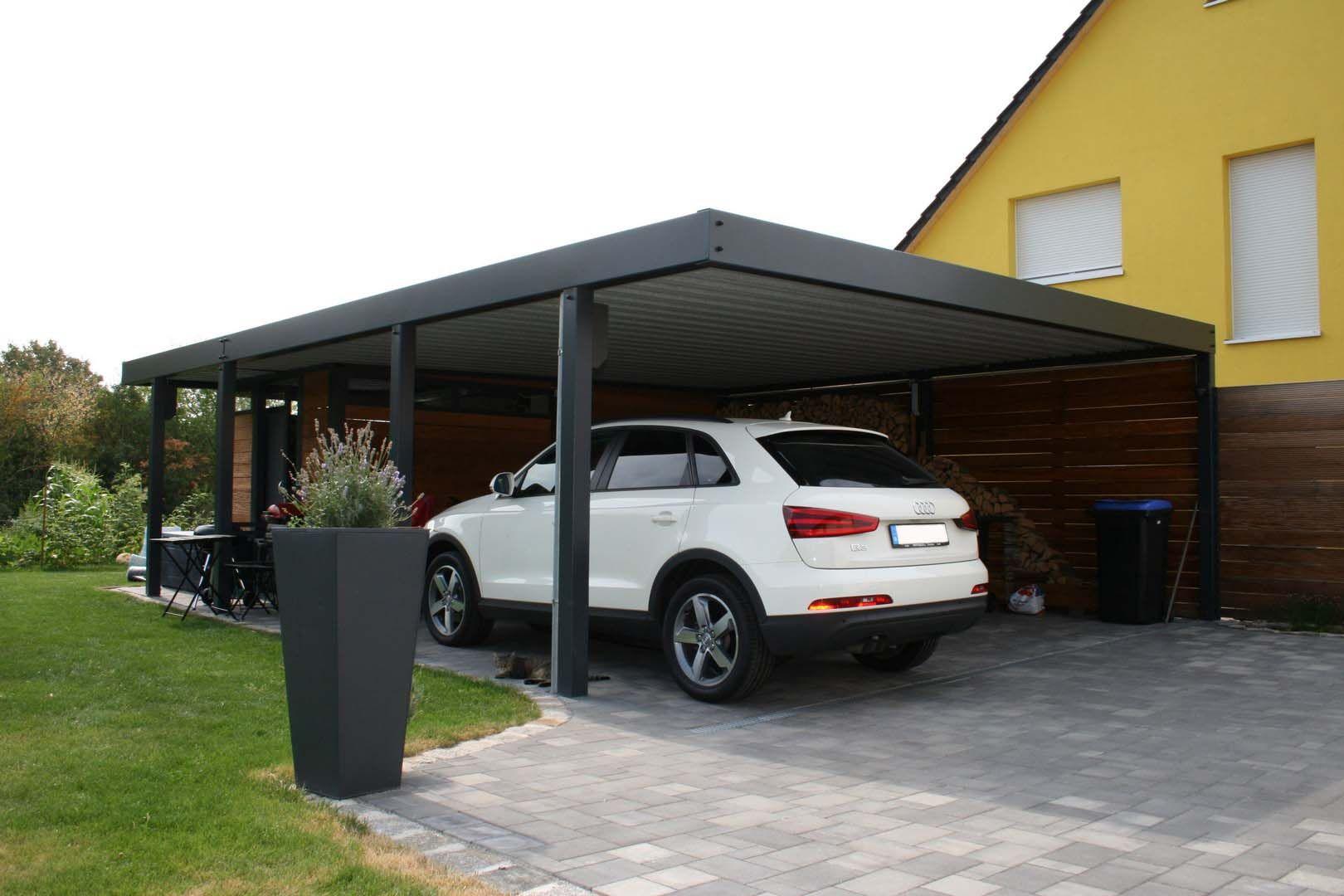 design metall carport aus holz stahl glas mit ger teraum stahlzart leipzig deutschland carport. Black Bedroom Furniture Sets. Home Design Ideas
