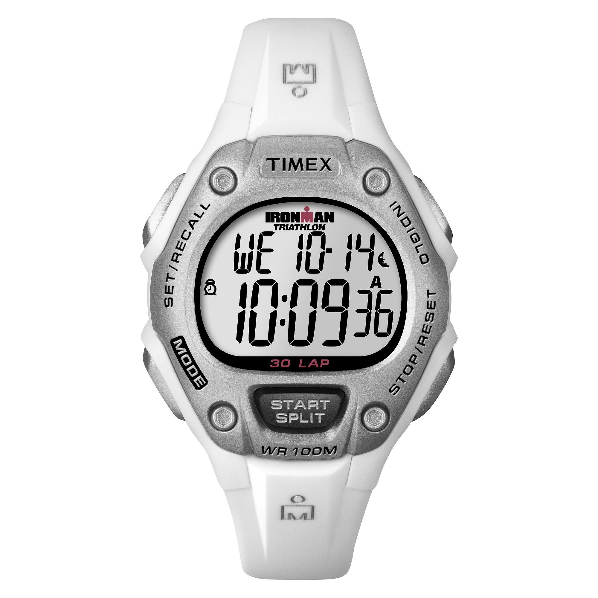 f3058f4d7049 Women s Timex Ironman Classic 30 Lap Digital Watch - White T5K515JT ...