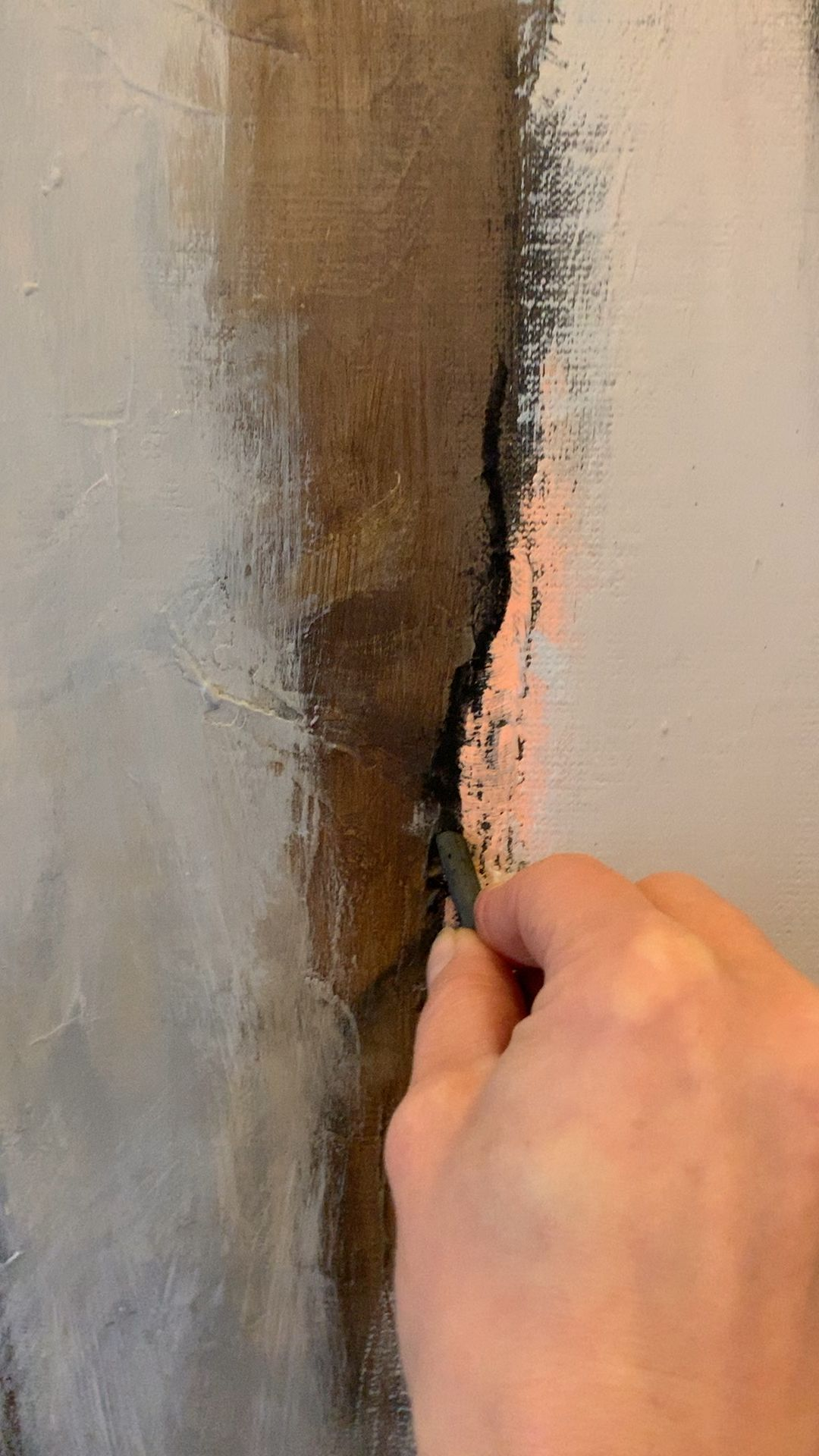 Acrylart, Abstract, Struktur, Leinwand, Contemporaryart, Abstraktekunst, Grau, Kohle,