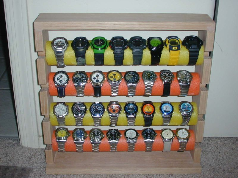 I have a growing collection of watches and need a storage case for my watches. & this seems like great idea to store my watches... | DIY Ideas ... Aboutintivar.Com