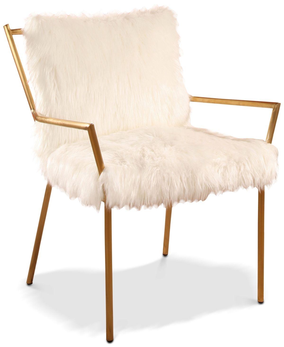Chelsea faux fur armchair white armchair furniture