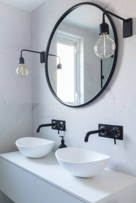 Photo of 18+ ideas bathroom black and white vintage lights