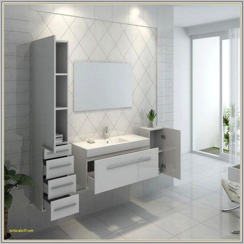 Meuble Salle De Bain Ultra Moderne In 2020 Bathrooms Remodel Bathroom Bathroom Vanity