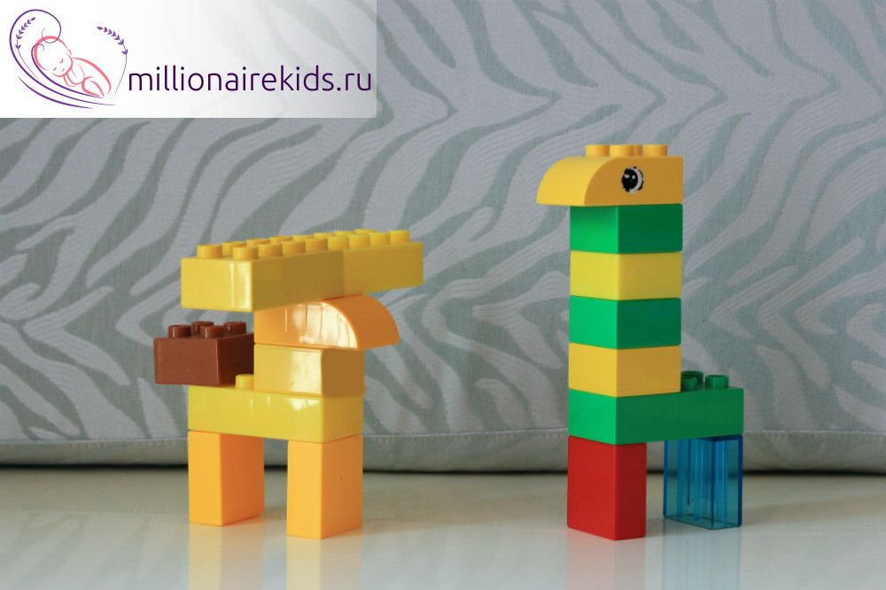 Как из лего сделать животных из