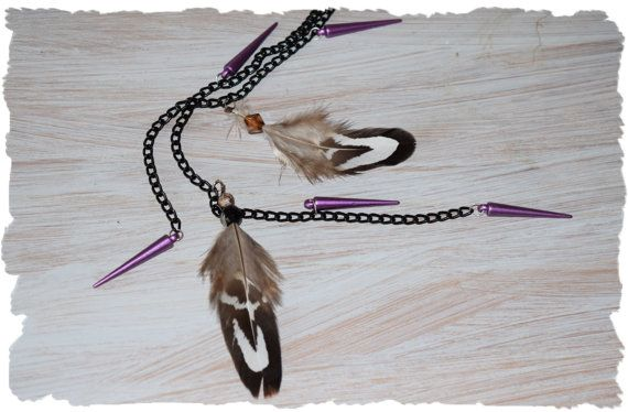 Spike up your hair /  feather clip in extension / door TwinkleHair