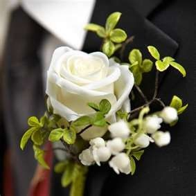 White Rose Lily Of The Valley And Fern Boutonniere Groom Etsy Wedding Flowers White Roses Lily Of The Valley