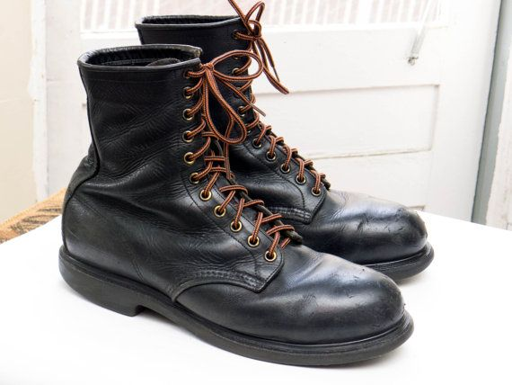 d692a94e348 Vintage RED WING 4473 Stiefel, Sz 10 D--> Made in Usa; Schwarzes ...