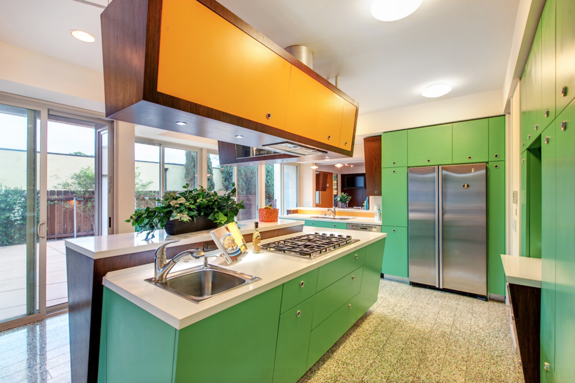 Best One More View Of This Mid Century Modern Styled Kitchen 400 x 300