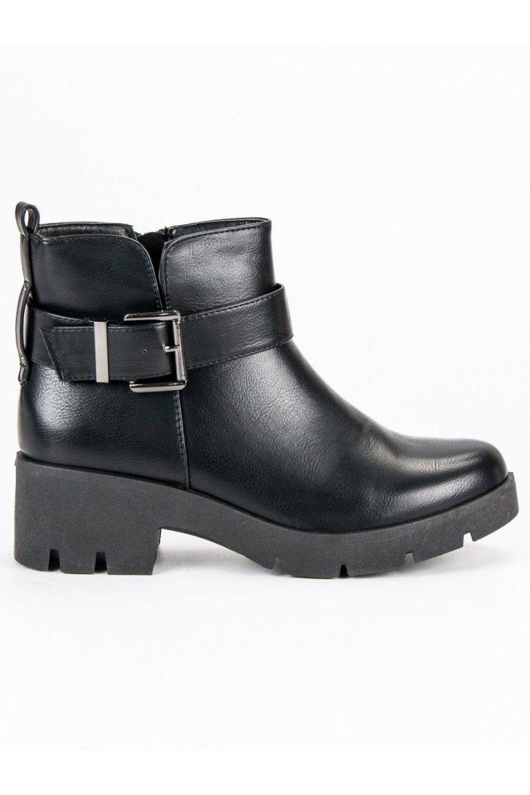 f3f6da4c281e Čierne topánky na platforme CnB
