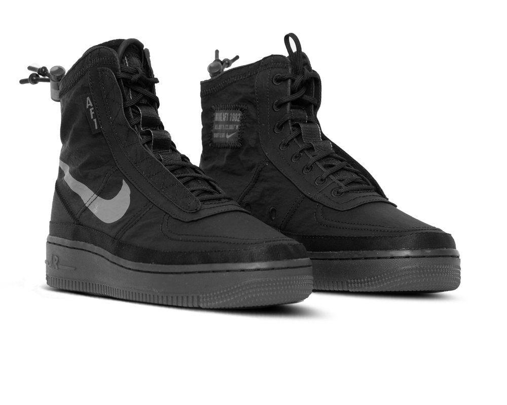 Nike Air Force 1 Shell Black Dark Grey Bq6096 001 | Freesneak