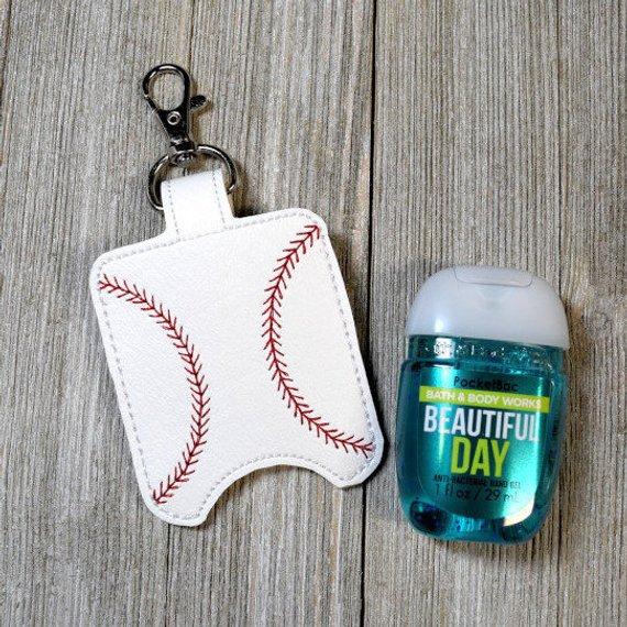 Baseball Hand Sanitizer Holder Sports Bag Tag Sanitizer Key Fob