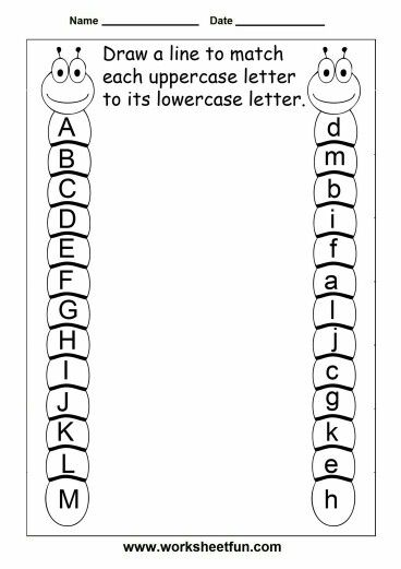 Unir mayúsculas con su minuscula. | k worksheets | Pinterest ...
