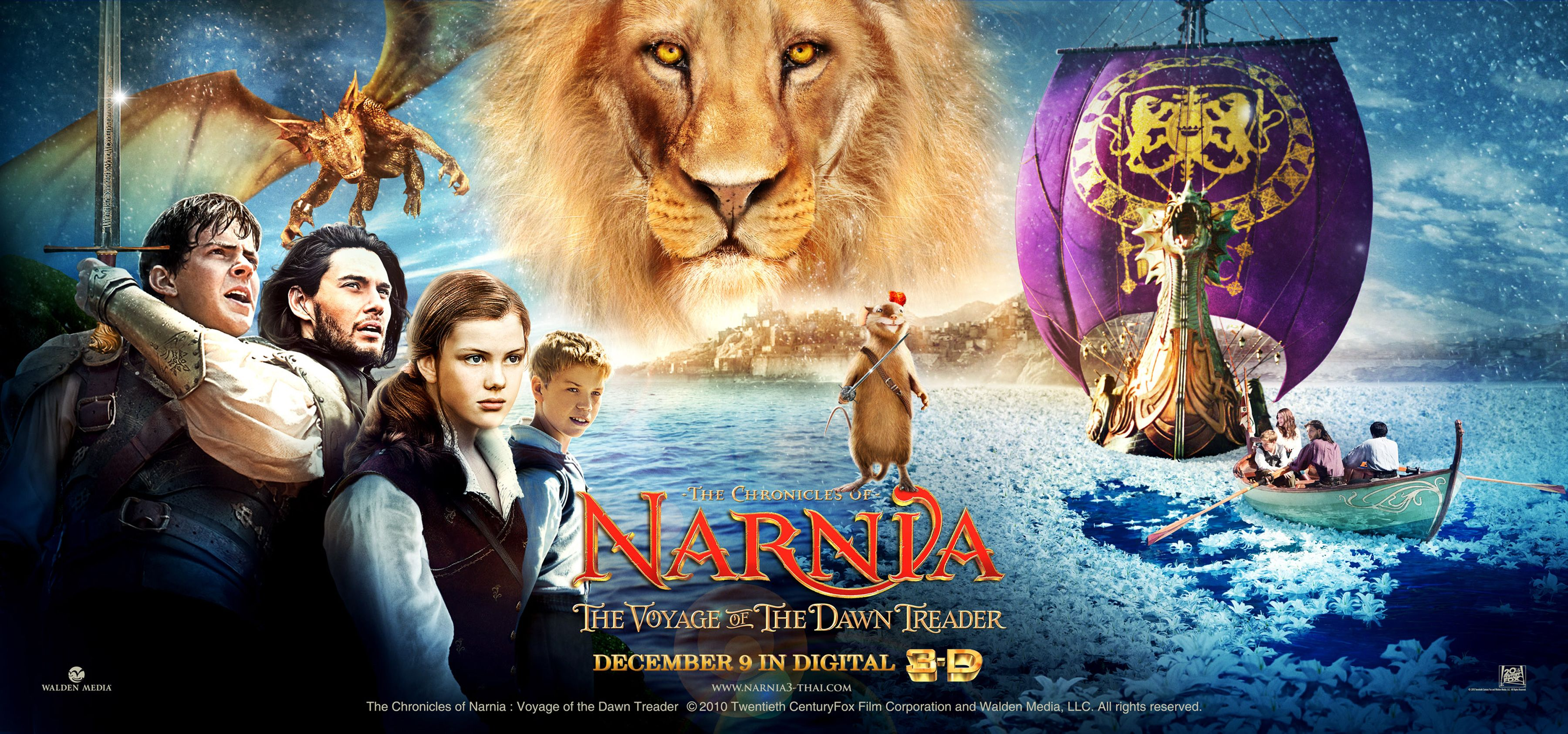Narnia The Voyage Of The Dawn Treader Movie Review Narnia