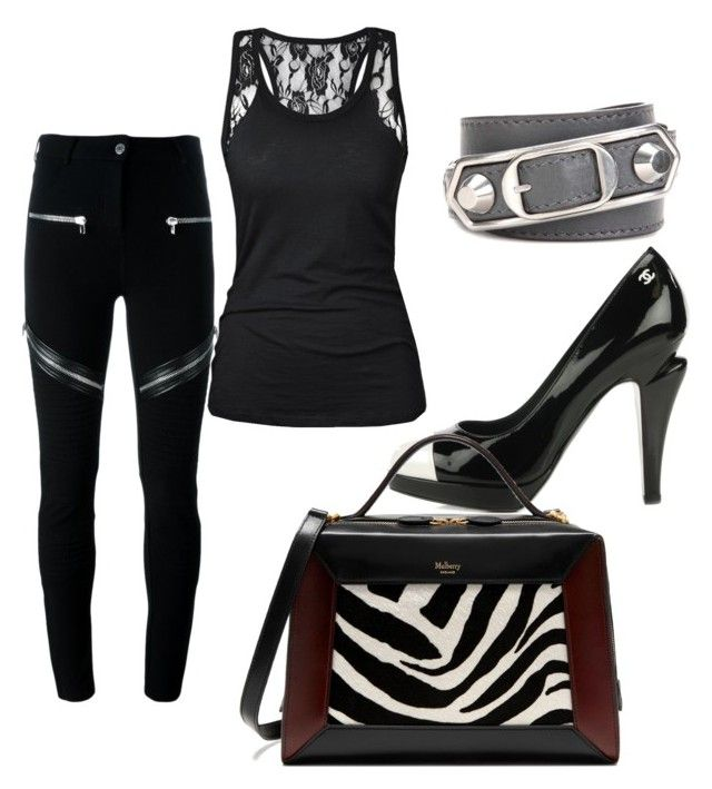 """""""Untitled #128"""" by gildaronca on Polyvore featuring Balenciaga, Givenchy, Chanel and Mulberry"""