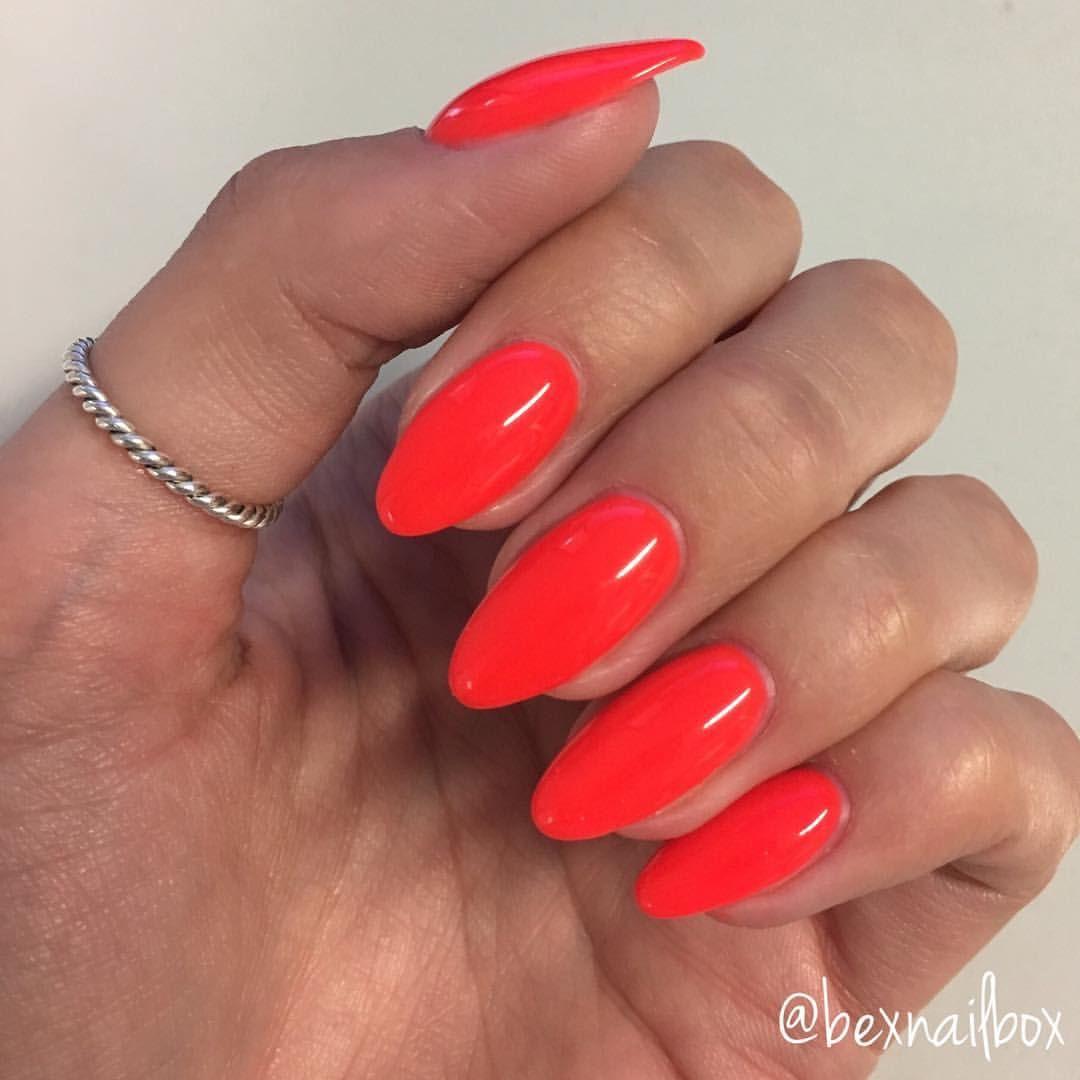 Bluesky Gel Polish Neon 31 Red Gel Nails Nails Orange Nails