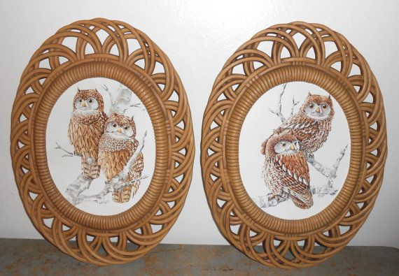 Vintage Wall Plaques, Pictures, Owls, Homco, Wall Decor ...