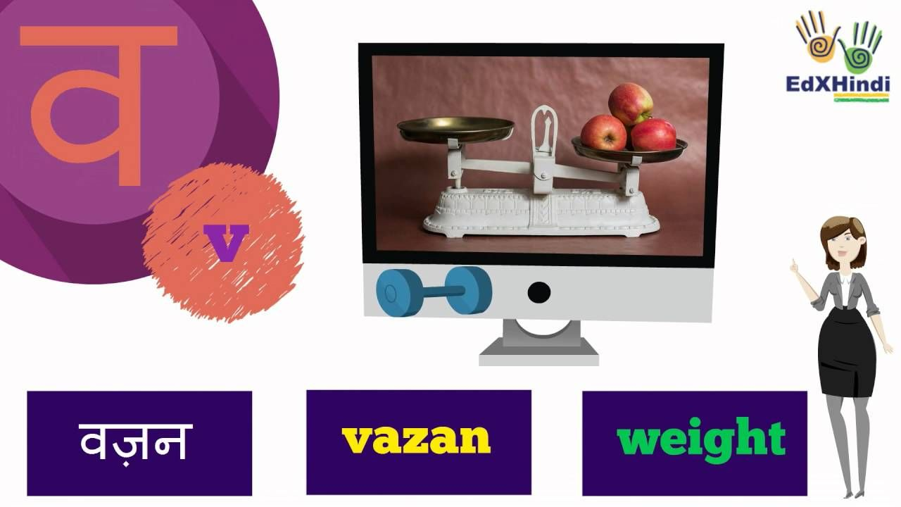 Learn Hindi Vocabulary words starting with alphabet