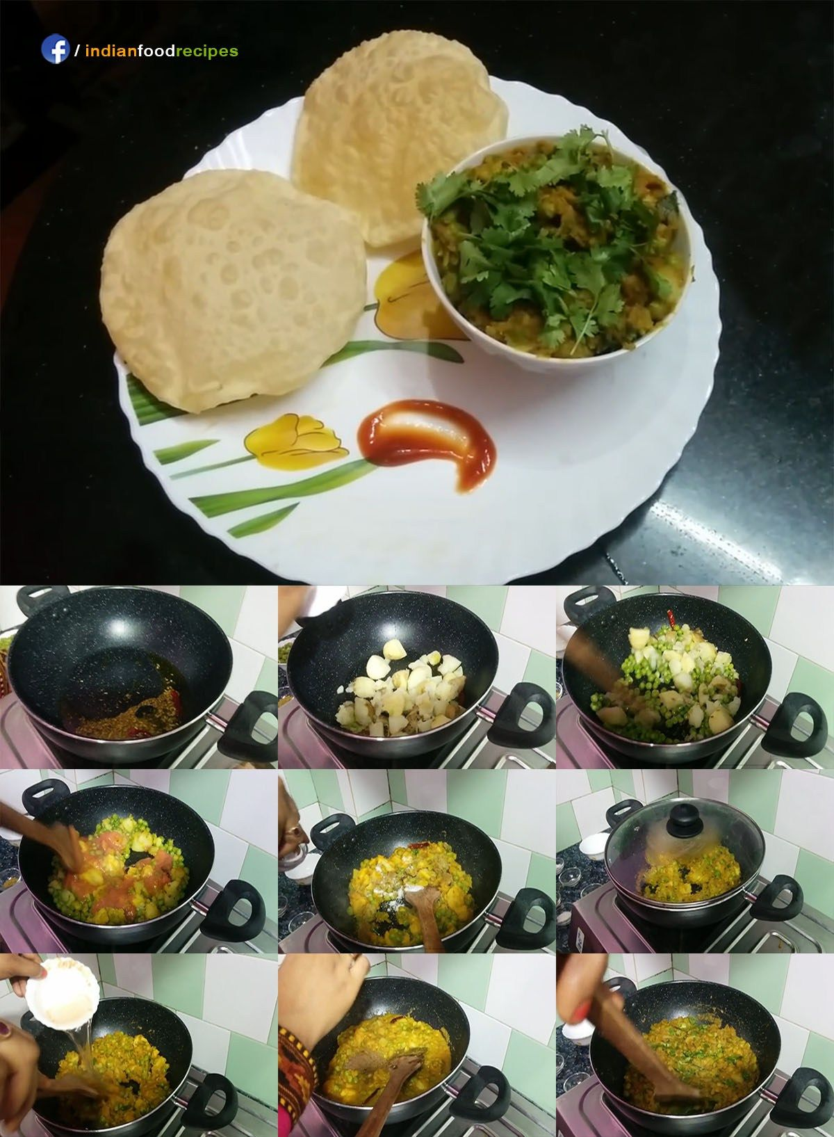 Potato peas curry aloo matar ki sabji recipe step by step love food forumfinder Images