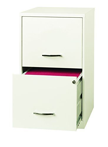 The Space Solutions 2-Drawer Metal File Cabinet is designed for