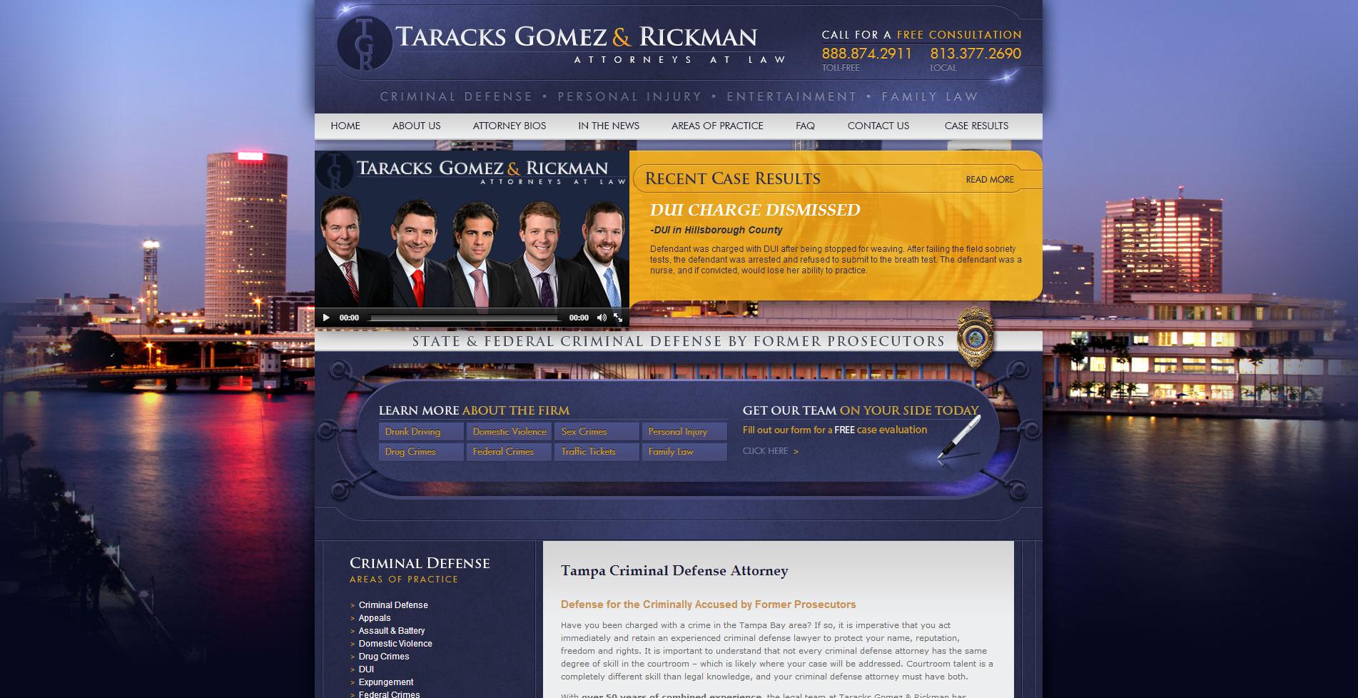 Tampa Criminal Defense Lawyer Taracks Gomez Rickman Www