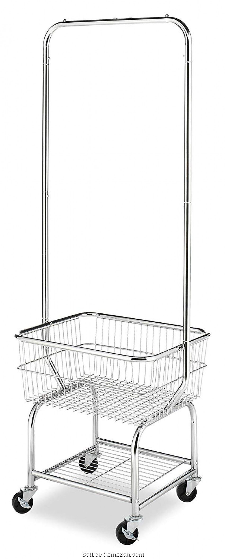 Wire Basket Laundry Storage Amazon Com Whitmor Commercial Rolling