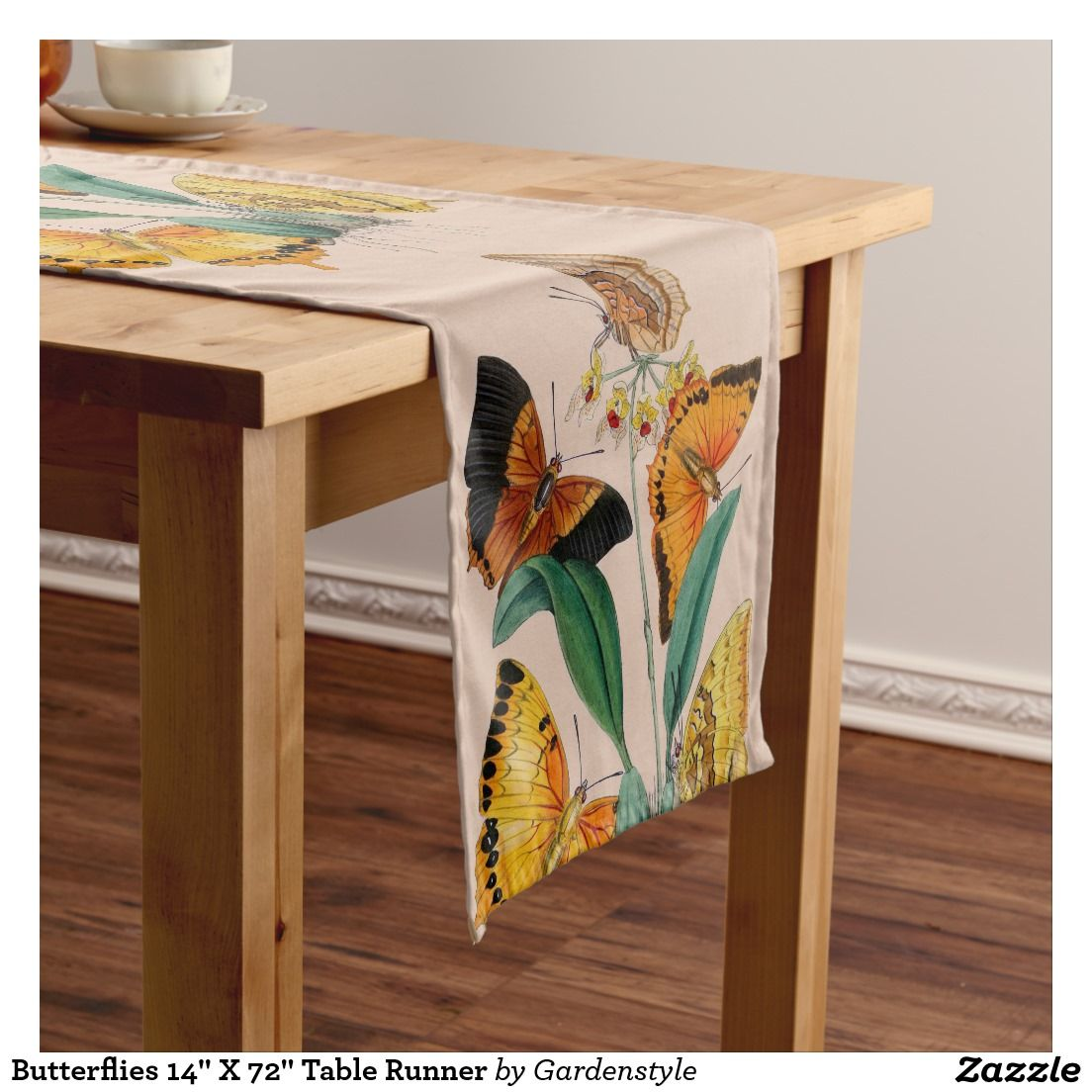 """Butterflies 14"""" X 72"""" Table Runner"""